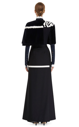 Cropped Cape Jacket by THOM BROWNE for Preorder on Moda Operandi