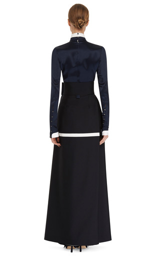 Necktie Shirt Blouse by THOM BROWNE for Preorder on Moda Operandi
