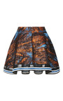 Copper Turquoise Galaxy Drape Mini Skirt by OSTWALD HELGASON for Preorder on Moda Operandi