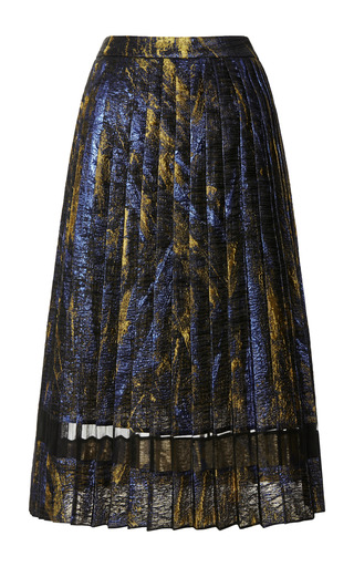 Medium ostwald helgason navy saffron navy galaxy pleated skirt