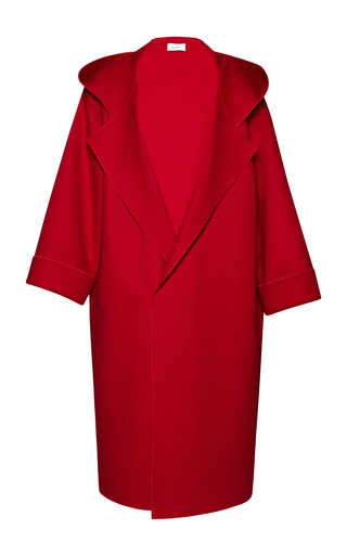 Medium isa arfen red hooded oversize easy coat