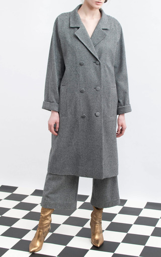 Double Breasted Raglan Sleeve Coat by ISA ARFEN for Preorder on Moda Operandi