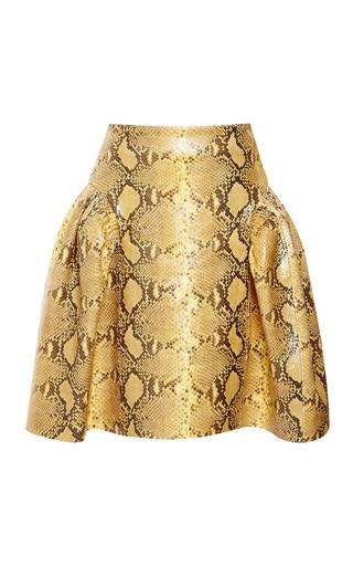 Medium simone rocha yellow snakeskin printed skirt