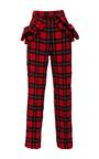Tartan Seersucker Ruffle Trousers by SIMONE ROCHA for Preorder on Moda Operandi