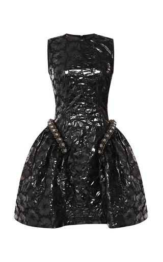 Medium simone rocha black embroidered plastic beaded mini dress