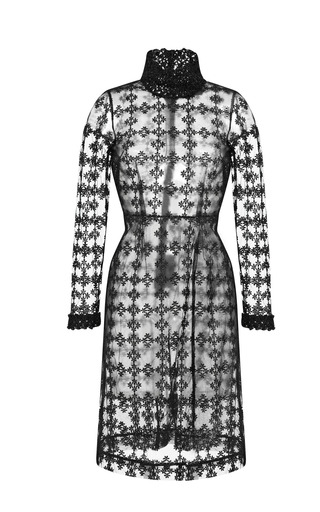 Medium simone rocha black floral check shift dress
