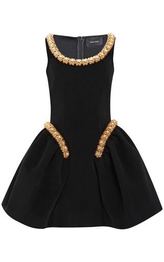 Medium simone rocha black bonded wool beaded dress