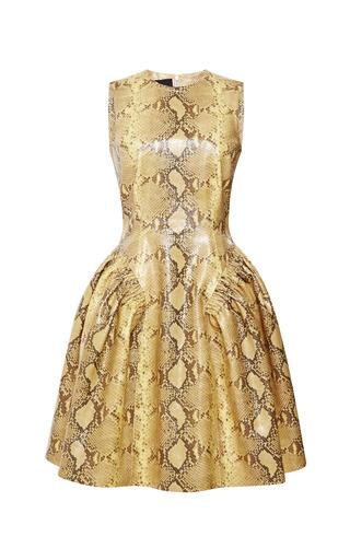 Medium simone rocha yellow snakeskin printed sleeveless dress
