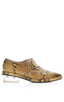 Snakeskin Printed Leather Brogues by SIMONE ROCHA for Preorder on Moda Operandi