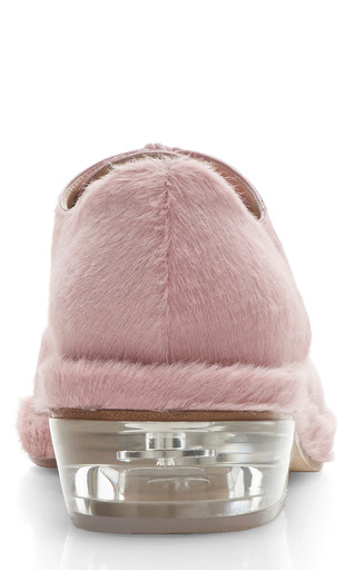 Pink Pony Hair Brogues by SIMONE ROCHA for Preorder on Moda Operandi