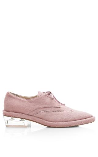 Medium simone rocha pink pink pony hair brogues