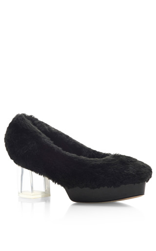 Shearling Pumps by SIMONE ROCHA for Preorder on Moda Operandi