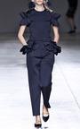 Black Pony Hair Ballerina Flats by SIMONE ROCHA for Preorder on Moda Operandi