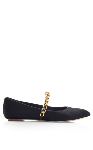 Medium simone rocha black black pony hair ballerina flats