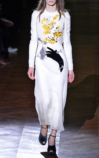 Embroidered Organza Dress by CARVEN for Preorder on Moda Operandi