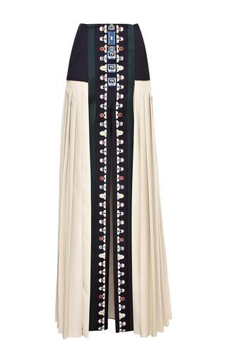 Medium mary katrantzou multi riva embroidered maxi skirt