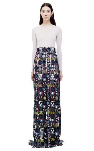 Poppycon Lace Skirt by MARY KATRANTZOU for Preorder on Moda Operandi