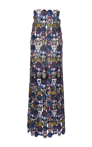 Medium mary katrantzou multi poppycon lace skirt