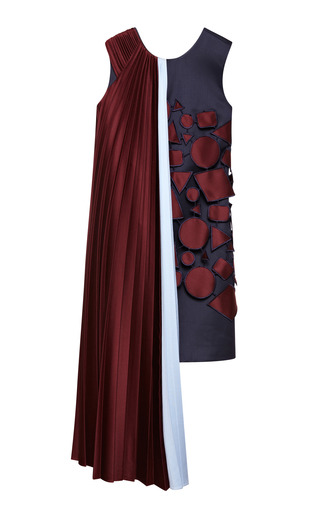 Medium mary katrantzou burgundy karafunda dress