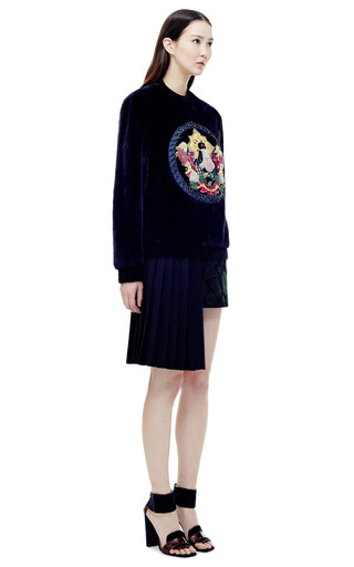 Jumbar B Embroidered Fur Jumper by MARY KATRANTZOU for Preorder on Moda Operandi