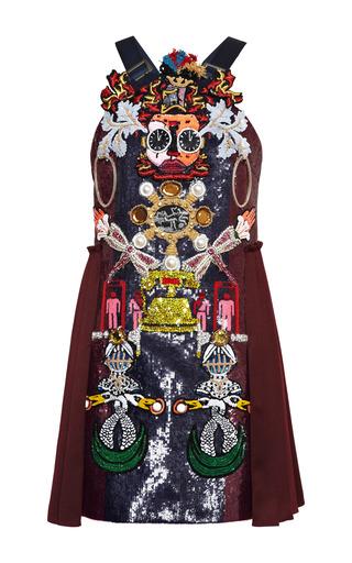 Medium mary katrantzou burgundy clocktopia embroidered dress