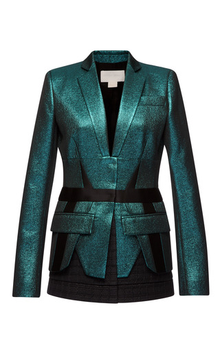 Medium antonio berardi black metallic lurex jacket