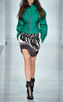 Embroidered Flocked Airtex Mini Skirt by ANTONIO BERARDI for Preorder on Moda Operandi