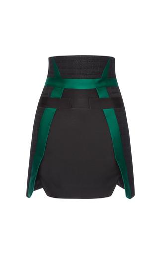 Medium antonio berardi green silk scuba slit hem skirt