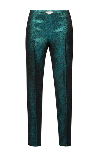 Medium antonio berardi green metallic lurex trousers