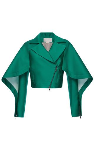 Medium antonio berardi green emerald silk scuba short jacket