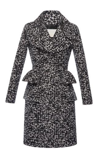 Medium antonio berardi black leopard camouflage coat