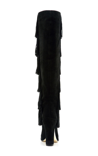 Tara Knee High Fringed Suede Boots by PAUL ANDREW Now Available on Moda Operandi