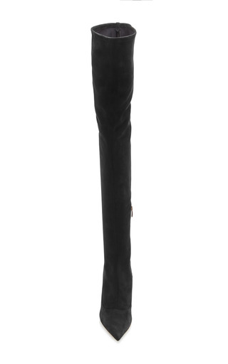 Matrix Over The Knee Stretch Suede Boots by SERGIO ROSSI Now Available on Moda Operandi