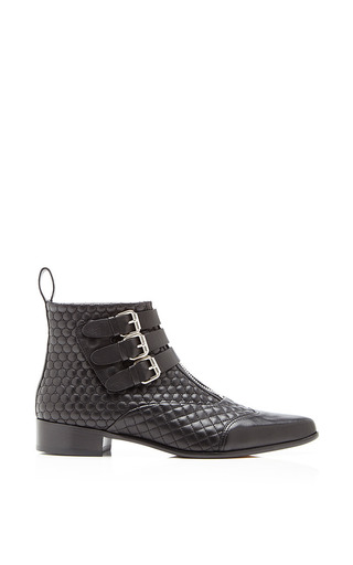 Medium tabitha simmons black early ankle boot in black quilted nappa