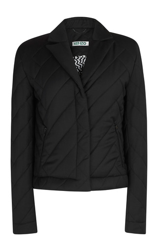 Medium kenzo black quilted wool jacket