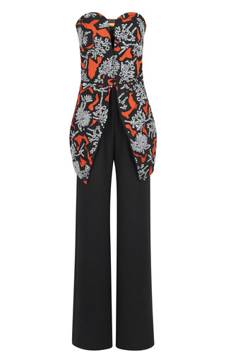 Medium kenzo print monster sequin embroidery jumpsuit