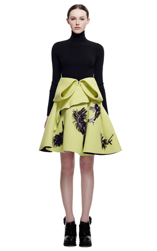 Double Face Jersey Crepe Skirt With Embroidery by KENZO for Preorder on Moda Operandi