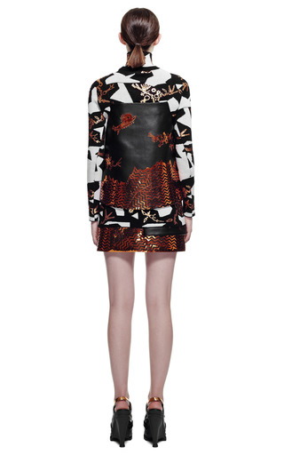 Monster Graphics On Wool Blend Skirt by KENZO for Preorder on Moda Operandi