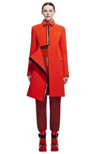 Double Faced Textured Crepe Coat by KENZO for Preorder on Moda Operandi