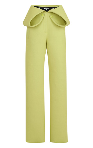 Medium kenzo green double face jersey crepe pant
