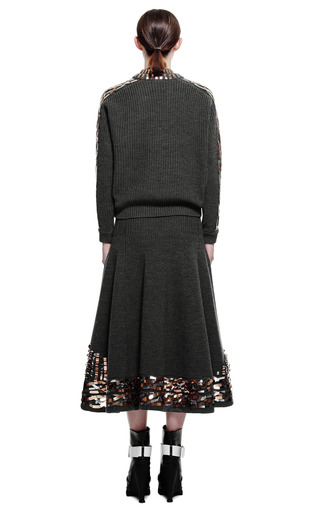 Metallic Embroidery On Ribbed Stitch Wool Sweater by KENZO for Preorder on Moda Operandi