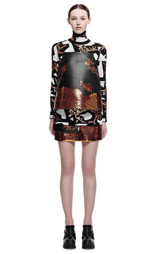 Embroidered Calf Leather Top by KENZO for Preorder on Moda Operandi