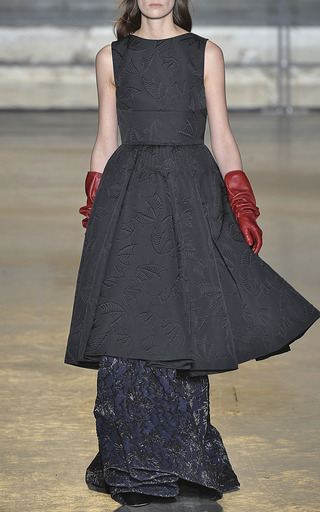 Black Bat Jacquard Party Dress by ROCHAS for Preorder on Moda Operandi