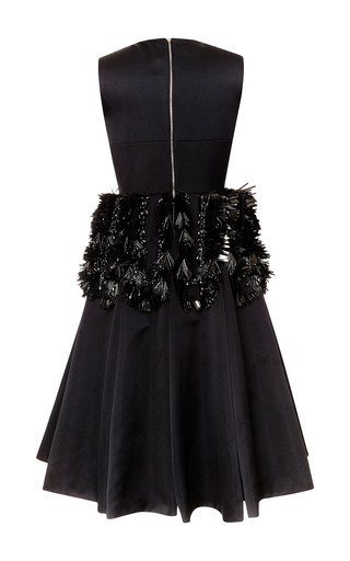 Duchesse Party Dress With Fringe Embroidery by ROCHAS for Preorder on Moda Operandi