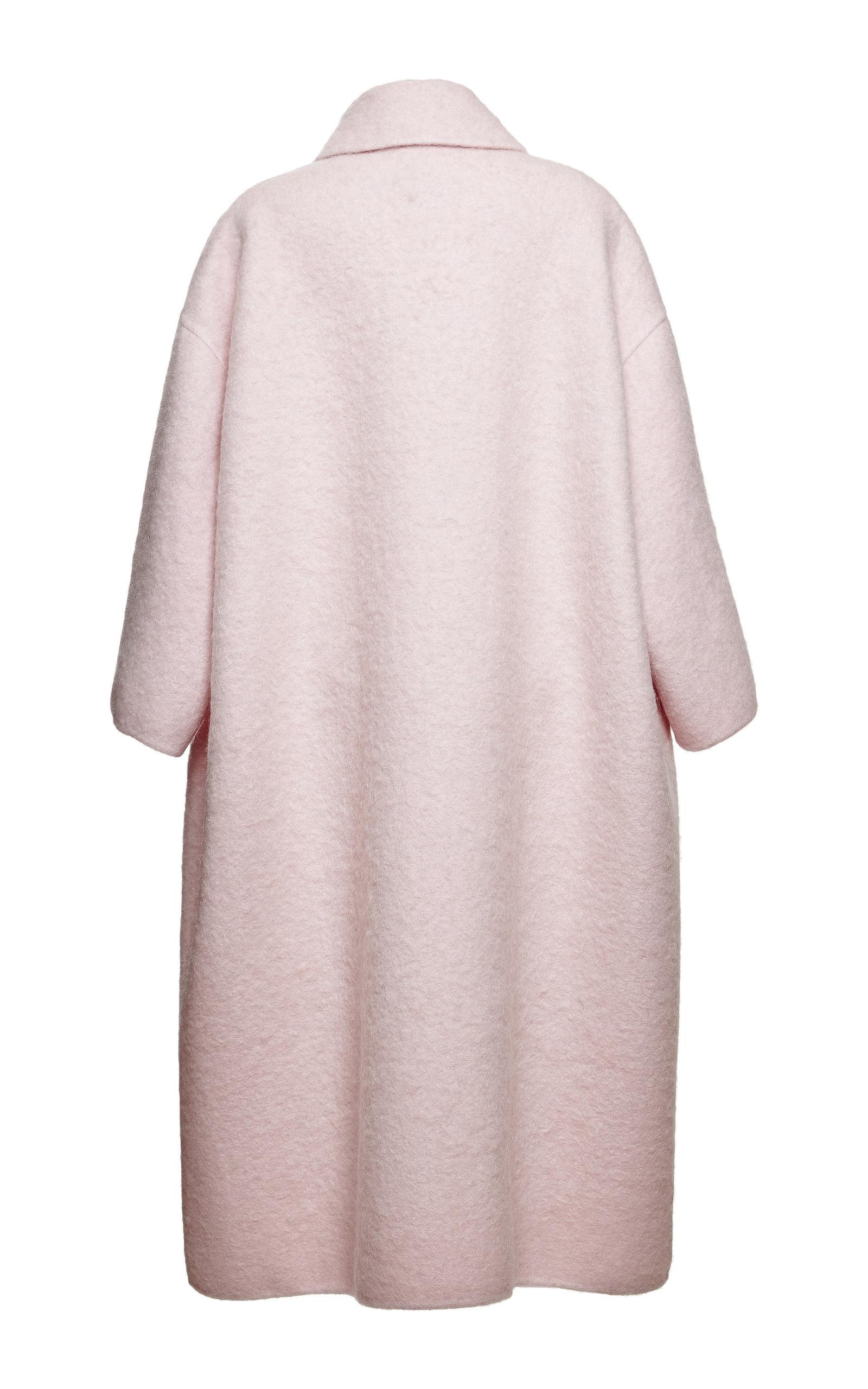 Pink Double Wool Mohair Coat by Rochas   Moda Operandi