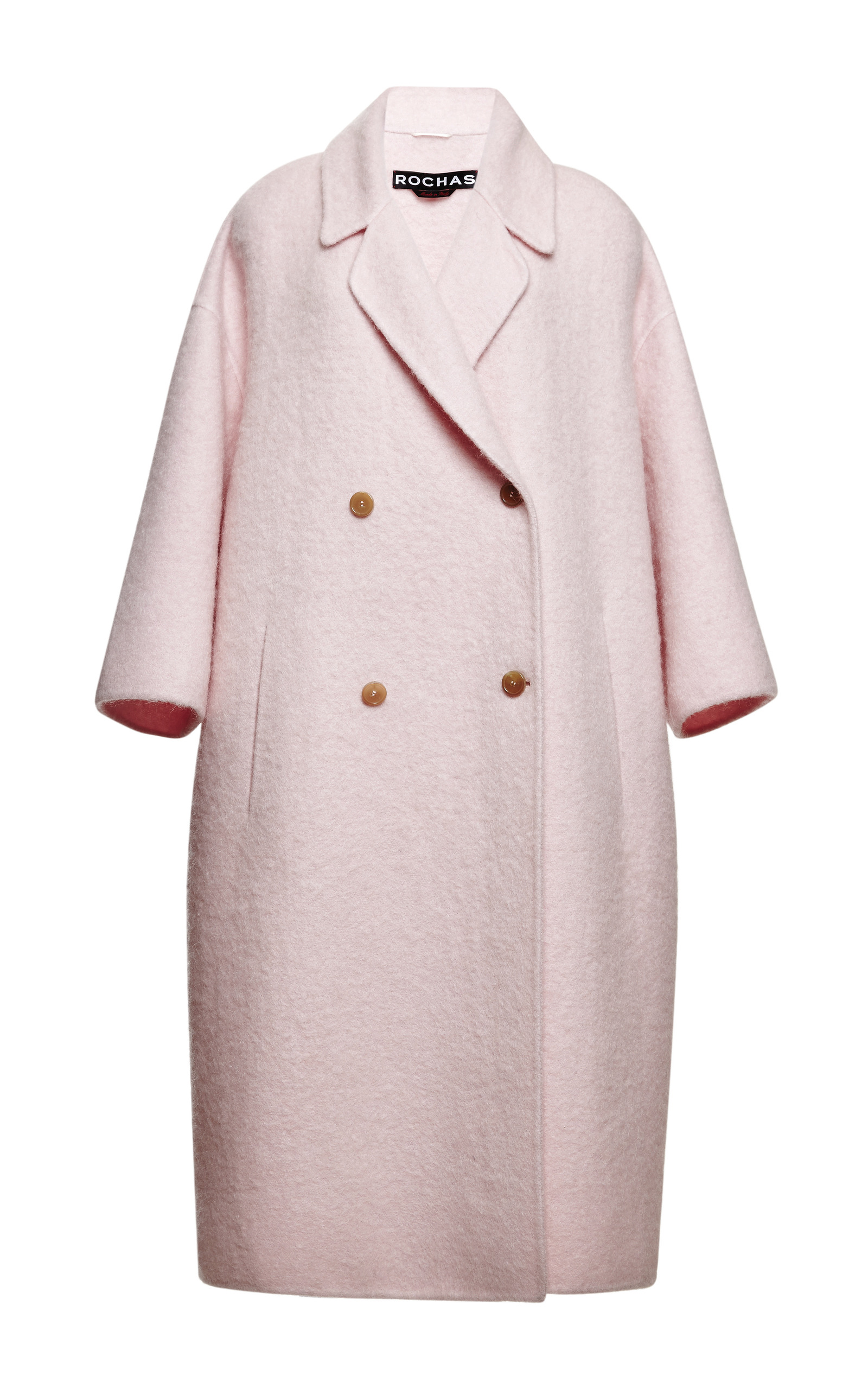Pink Double Wool Mohair Coat by Rochas | Moda Operandi