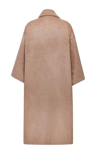 Double Breasted Camel Wool Alpaca Coat by ROCHAS for Preorder on Moda Operandi