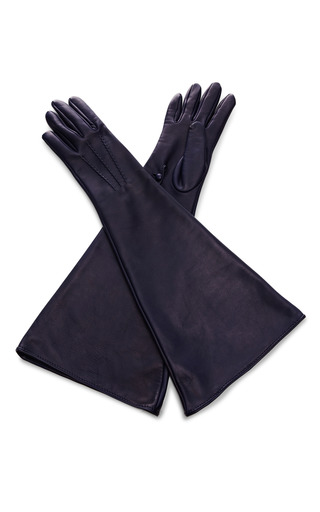 Medium rochas blue midnight opera gloves