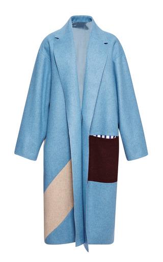 Medium roksanda ilincic red powder blue larkin coat