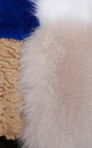 Sand/Black Patchwork Fur Coat by ROKSANDA for Preorder on Moda Operandi